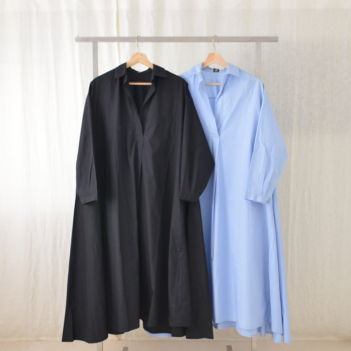 Aラインスキッパーシャツワンピース[20S/S SALE]