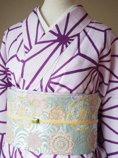 麻の葉 紫(大) 1-09