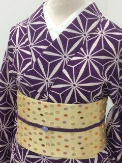 麻の葉 濃い紫 1-24