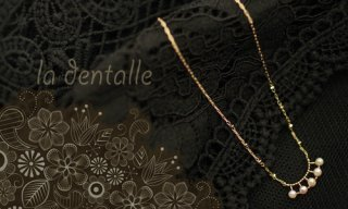 la dentalle Necklace-Pearl