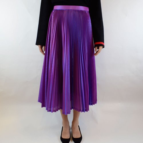 AKIRA NAKA【アキラナカ】Spark satin pleats skirt