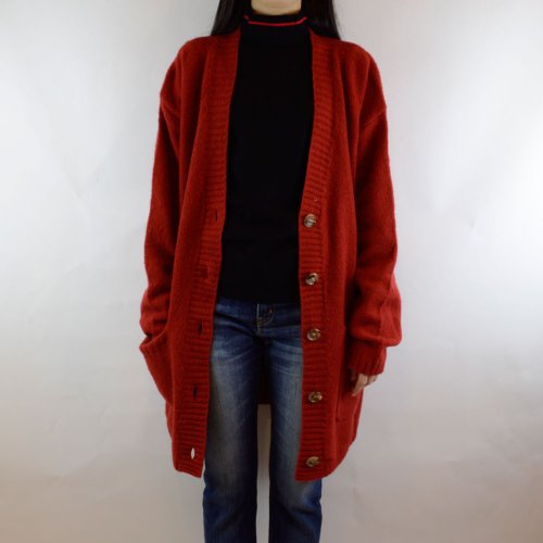 MADISONBLUE【マディソンブルー】 シャギービッグカーディガン  color:RED,BLACK,BEIGE,YELLOW