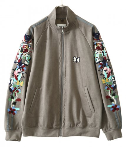 doublet【ダブレット】CHAOS EMBROIDERY SUEDE TRACK JACKET
