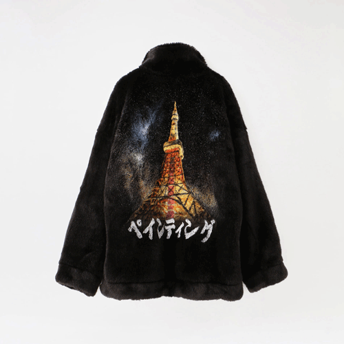 doublet【ダブレット】HAND-PAINTED FUR JACKET 20AW04BL90