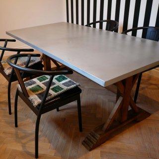 シルバートップの粋なやつ<br>ダイニングテーブル<br>W180×D90×H72cm<br>【送料無料】