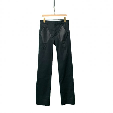 Black Leather Diamond Trouser