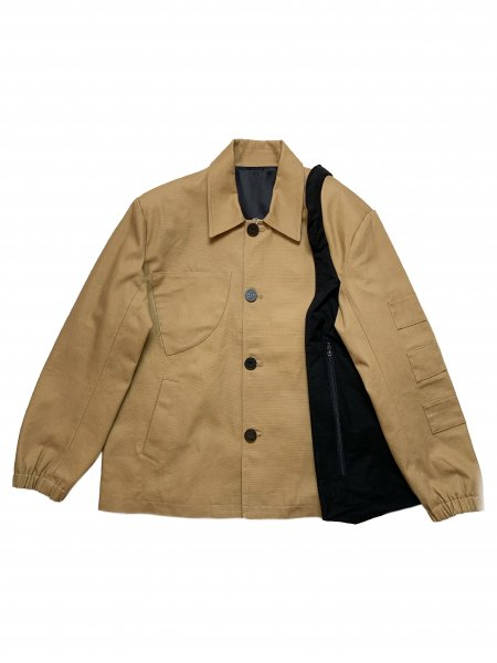 Long Sleeves Button Down Jacket With Extra Pocket Panel Detail