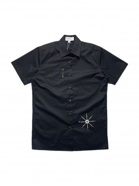 Short Sleeves Button Down Shirt With Side Front Pocket