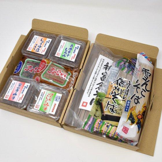 信州そばと醤油豆セット