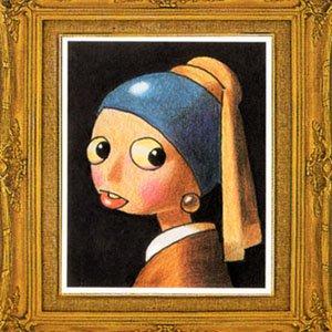 フェルメールの<br>真珠の耳飾りの少女<br>(葉書5枚・テキスト付)