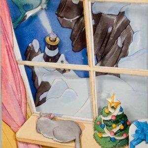 Light House Winter<br>(背景2枚・近景3枚・<br>アクリル板・テキスト付)
