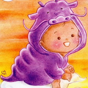たつ(竜)な赤ちゃん<br>(1シート・テキスト付)