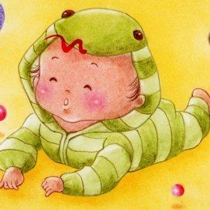 へび(它)な赤ちゃん<br>(1シート・テキスト付)