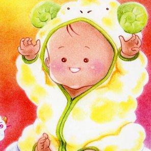 ひつじ(羊)な赤ちゃん<br>(1シート・テキスト付)