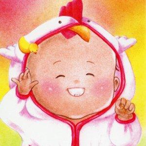 とり(酉)な赤ちゃん<br>(1シート・テキスト付)