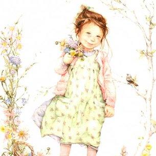 花を摘む少女<br>(かーどのみ8枚)