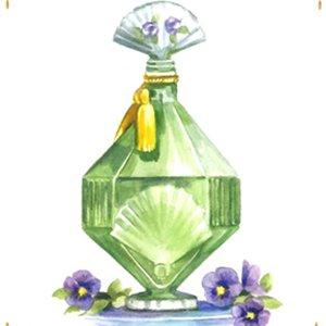 香水瓶・緑<br>(プリントのみ6枚)