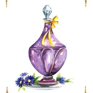 香水瓶・紫<br>(プリントのみ6枚)