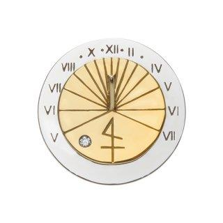 K18WGYG/ラペルピン SUN DIAL. lapel pin
