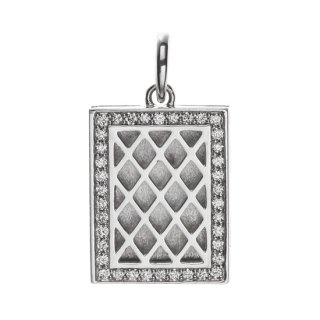 K18WG/ダイヤモンド/ペンダントトップ LOCKET