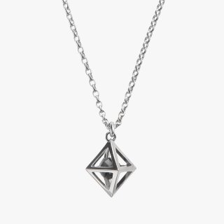K18WG/1.0ctブラックダイヤモンド原石/ネックレス RAW DIAMOND necklace