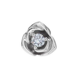 K18WG/ダイヤモンド/ピアス/BOUTONIERE piece(LARGE)