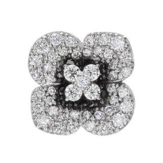 K18WG/ダイヤモンド/ラペルピン FLOWER lapel pin