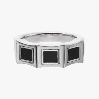K18WG/ブラックダイヤ/ダイヤモンド/リング DAY&NIGHT pinky ring  #13
