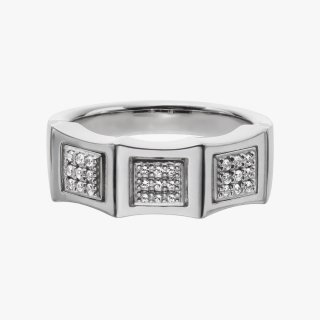 K18WG/ブラックダイヤ/ダイヤモンド/リング DAY&NIGHT pinky ring  #15