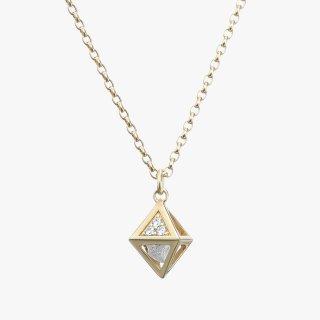 K18YG/1.0ctダイヤモンド原石/ネックレス RAW DIAMOND necklace