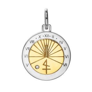 【SAFARI掲載】SV925(K18イエローゴールドコーティング)/ダイヤモンド/ペンダントトップ/SUN DIAL.