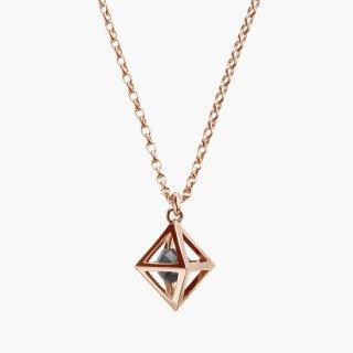 K18PG/1.0ctブラックダイヤモンド原石/ネックレス RAW DIAMOND necklace