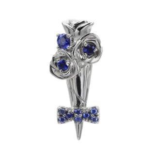 SV925/ブルーサファイヤ/ラペルピン BOUTONIERE lapel pin