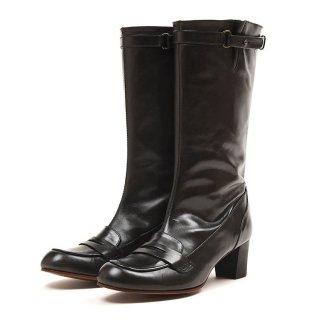 ショセ C2171-BLK 5cmヒールブーツ 【ブラック】