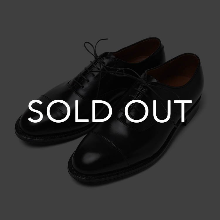 オールデン 907 HAMPTON CAP-TOE CALF Black