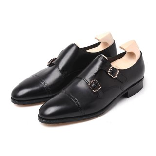 ジョンロブ PHILIP2 DOUBLE BUCKLE 【OXFORD/BLACK】Dウィズ