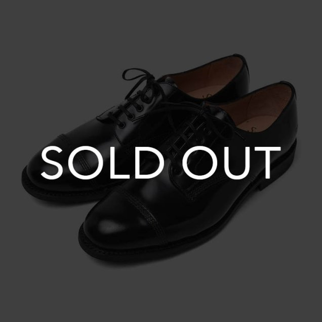 サンダース 1128B Military Derby Shoe Polishin Leather BLK