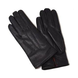 DENTS (デンツ)  15-1535 ヘアシープ×カシミア 手縫い パームベント 【BLACK】メンズ
