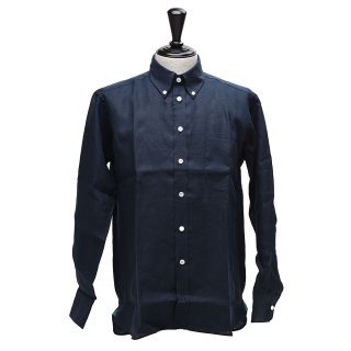 James Mortimer (ジェームズモルティマー) ボタンダウンロングスリーブ 【Navy】<img class='new_mark_img2' src='https://img.shop-pro.jp/img/new/icons14.gif' style='border:none;display:inline;margin:0px;padding:0px;width:auto;' />