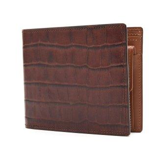 K.t.ルイストン KTW125 クロコダイル型押し財布 | DBR(ダークブラウン)
