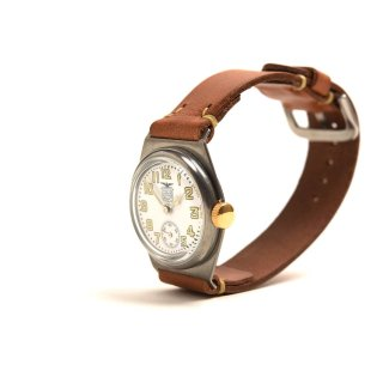 MOTO (モト) WT1 腕時計 白文字盤×イタリアンカウハイド茶 [WH-BR] メンズ