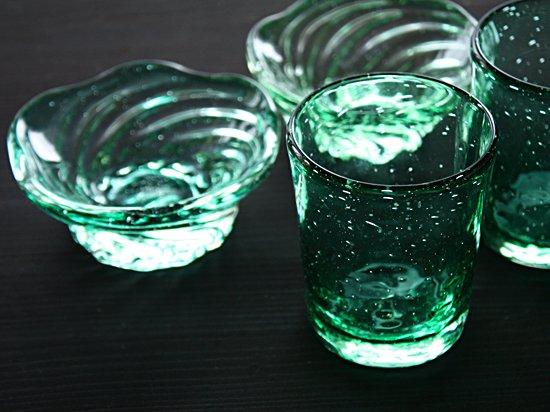 泡グラス・グリーン