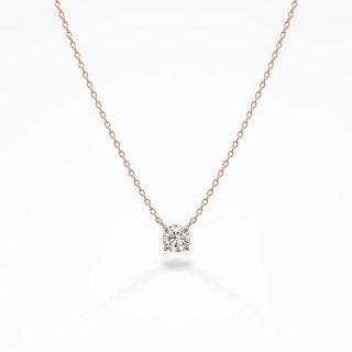 S001 ラボ・グロウン ダイヤモンド<br>ネックレス / ピンクゴールド / 0.30カラット