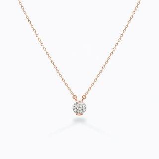 ラボ・グロウン ダイヤモンド<br>ネックレス / ピンクゴールド / 0.30カラット