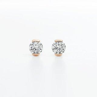 ラボ・グロウン ダイヤモンド<br>ピアス / ピンクゴールド / 0.20カラット×2