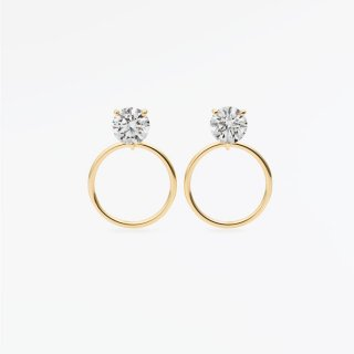 ラボ・グロウン ダイヤモンド<br>ピアス / ゴールド / 0.20カラット×2