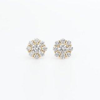 ラボ・グロウン ダイヤモンド<br>ピアス /  ゴールド / 中石0.20カラット×2