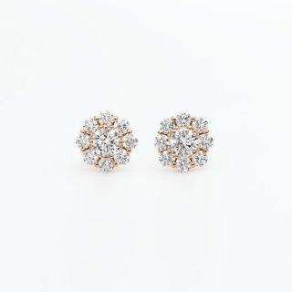 ラボ・グロウン ダイヤモンド<br>ピアス /  ピンクゴールド / 中石0.20カラット×2