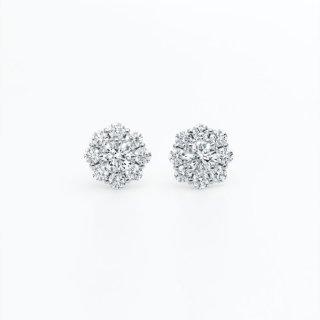 ラボ・グロウン ダイヤモンド<br>ピアス /  プラチナ / 中石0.20カラット×2