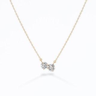 ラボ・グロウン ダイヤモンド<br>ネックレス / ゴールド / 0.20カラット×2